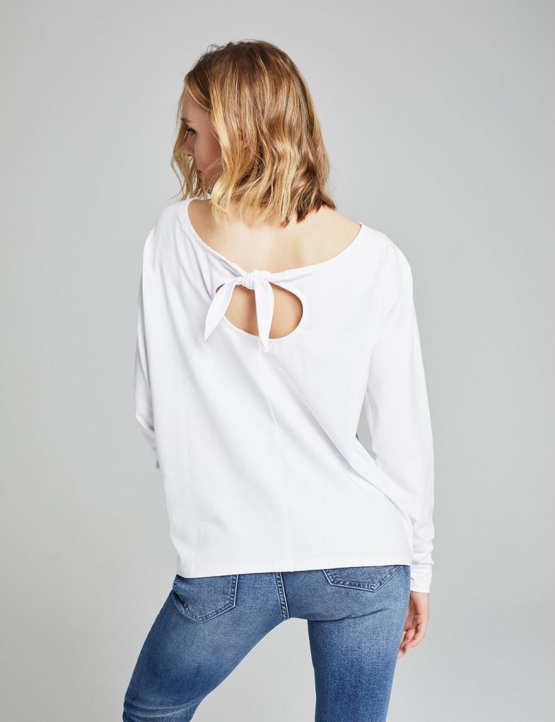 5dc58a7a3a4ea5 Bluzki i koszulki damskie z długim rękawem, nadrukiem, napisami ...