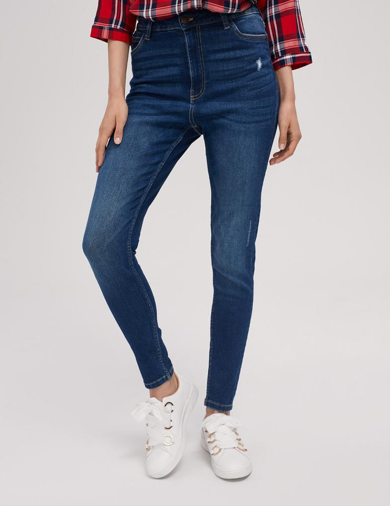 e85d7537 Spodnie jeansowe damskie - joggery, boyfriendy, z wysokim stanem ...