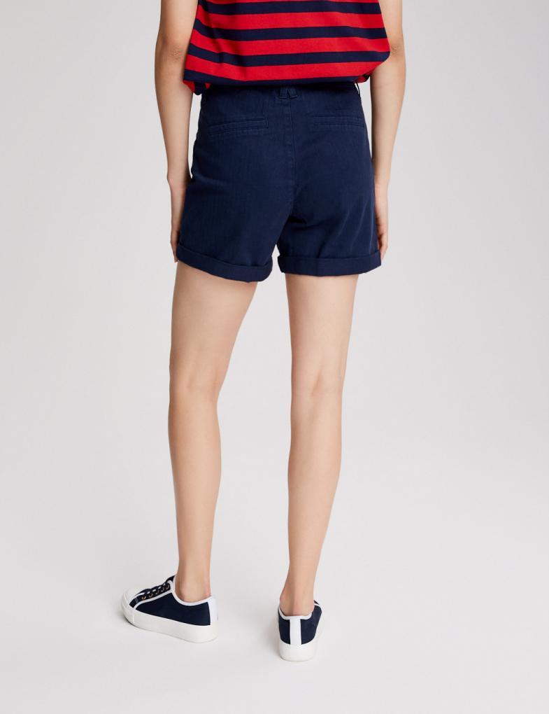 Krótkie spodenki damskie sportowe, jeansowe, z wysokim